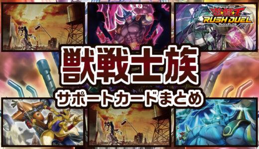 【獣戦士族】サポートカードまとめ:獣戦士族を展開! 強化! 再利用!【遊戯王ラッシュデュエル】